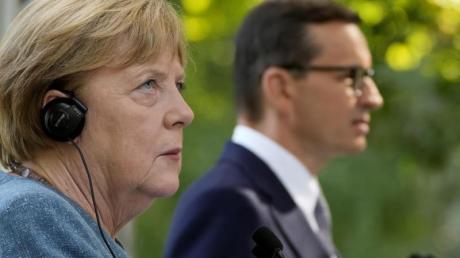 Bundeskanzlerin Angela Merkel und Polens Ministerpräsident Mateusz Morawiecki sprachen unter anderem über die Beziehungen zu Belarus, die Zukunft der EU und die bilateralen Beziehungen.