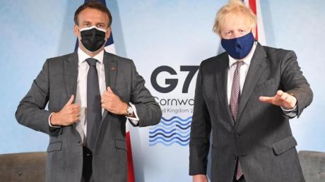 Schwierige Beziehung:Boris Johnson und Emmanuel Macron.