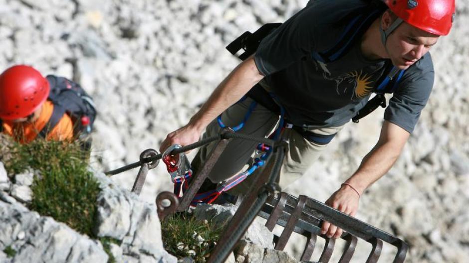 Klettersteig Urlaub : Klettersteig echerwand d climb and hike