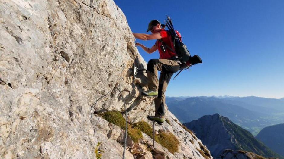 Klettersteig Urlaub : Weg nr hindelanger klettersteig am nebelhorn