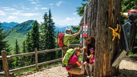 Der Alpinolino ist ein Wanderweg mit verschiedenenRätseln für Kinder - so macht Bewegung in denBergen auch den Kleinen Spaß. Foto: Christian Kapfinger