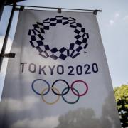 Das Logo für die Olympischen Sommerspiele Tokyo 2020. Foto: Michael Kappeler/dpa