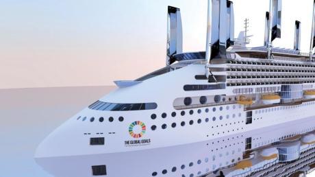 Sieht so die Kreuzfahrt der Zukunft aus? Das «Ecoship» wird mit Sonnen- und Windenergie angetrieben.