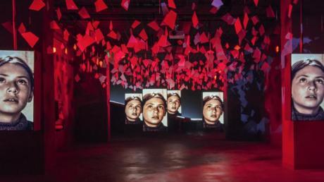 Blick in einen Saal des neuen italienischen Filmmuseums, MIAC Museo Italiano dell'Audiovisivo e del Cinema (Italienisches Museum für Audiovisuelles und Kino), in den Studios im römischen Stadtteil Cinecitta, unter dem Motto: Emozione del Cinema. Foto: Cristina Vatielli/MIAC/dpa