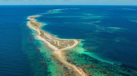 Grünstreifen:Die Houtman Abrolhos Islands haben jetzt den Status eines Nationalparks - hier leben unter anderem die vom Aussterben bedrohten Australischen Seelöwen. Foto: Richard Rossiter/Australia's Coral Coast/dpa-tmn