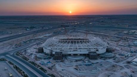 Al-Rayyan-Stadion in Katar - eines von acht Spielstätten während der Fußball-WM 2022 in dem Emirat.