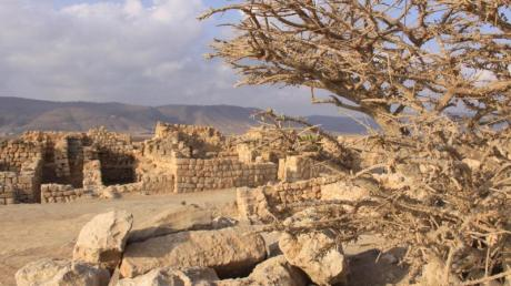 Alte Steine: Ruinen des antiken Weihrauchhafens Khor Rori.