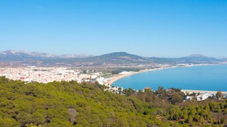 Blick über die Tamouda Bay - Marokko bewirbt den Küstenabschnitt als Riviera und will Urlauber anlocken.