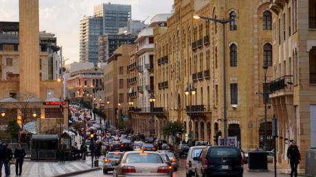 Die Innenstadt von Beirut im Jahr 2013 - hier wurde nach demBürgerkrieg viel Geld in den Wiederaufbau investiert.