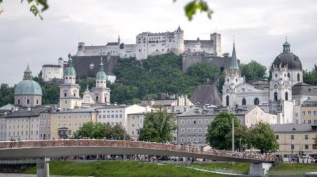 Blick auf die Innenstadt von Salzburg.
