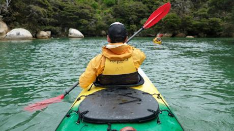 Zu Wasser unterwegs: Bei Flut kann man in die seichte Lagune des Shag Harbour hinein paddeln.