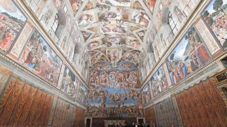 Innenansicht der Sixtinischen Kapelle.