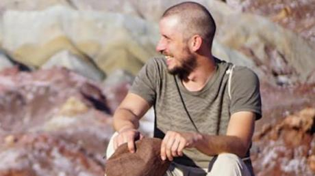 Bastian Sünkel in der Wüste Lut.