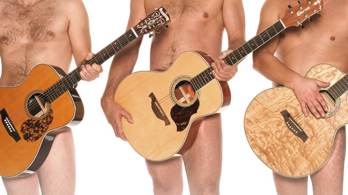 Drei Männer Mit Gitarre
