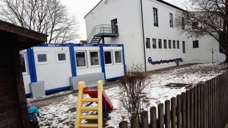 Die Containerlösung zur Betreuung der Krippenkinder wird durch einen Anbau am bestehenden Kindergarten bald ein Ende finden.