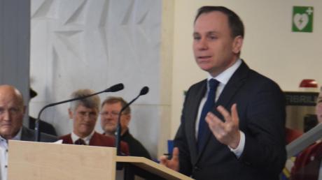Bundestagsabgeordneter Volker Ulrich wünschte sich für 2019 mehr gegenseitigen Respekt.