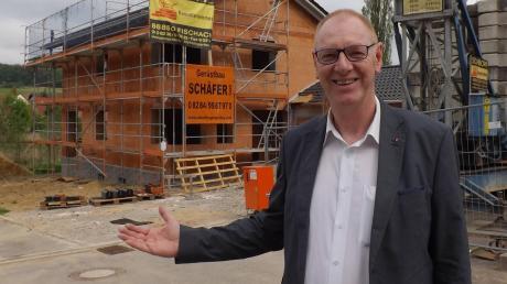 Bürgermeister Josef Böck war in Langenneufnach unter anderem die Ausweisungneuer Bauplätze wichtig.