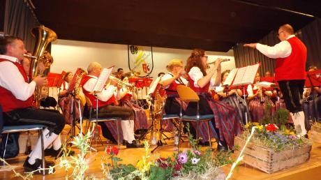 Mit viel Schwung präsentierten die Musiker der Musikvereinigung Immelstetten-Mittelneufnach ihr Jahreskonzert.
