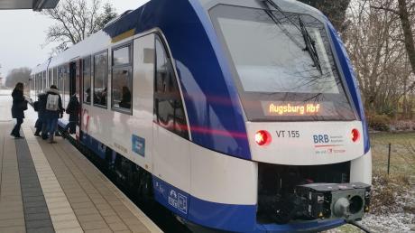 Ab 2023 wird ein wasserstoffbetriebener Zug auf der Strecke zwischen Augsburg und Buchloe erprobt.