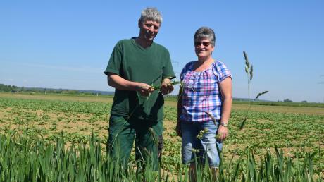 Walter Schuler und Christine Schäble wollen beim Felderrundgang den Bürgern erklären, wie die Landwirtschaft rund um Königsbrunn abläuft.