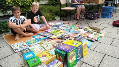 Simon und Paul verkaufen ihre alten Bücher, weil sie jetzt coolere Bücher lesen wollen.