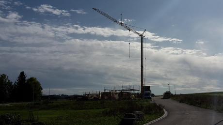 """Eines der wichtigsten Projekte der Mittelneufnacher Gemeinde, ein neues Baugebiet für junge Bürger, konnte im """"Riedle"""" verwirklicht werden"""