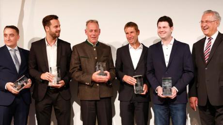 Das Bild zeigt (von links) Alexander Krauss, Michael Lodes, Wolfgang Hummel, Claus Hofmann, Markus Minini und Joachim Herrmann.