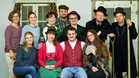 """Die Theatergruppe Großkitzighofen führt ihr Stück """"Gspenstermacher"""" im Schützenheim auf, die Prämiere ist am Samstag, 23. November."""