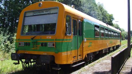 Momentan verkehren auf der Staudenbahn noch historische Züge, hier ein VT 08, doch die Wiederbelebung der Strecke ist beschlossen.