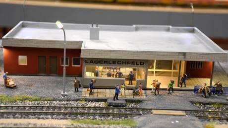 Der Bahnhof Lagerlechfeld wie er in den 1950er Jahren aussah.