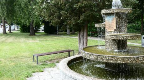Der Brunnenplatz in der Siedlung soll bebaut werden. Was mit dem Brunnen selbst passieren soll, ist noch offen.