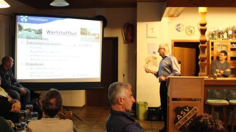 In seiner 18. Bürgerversammlung stellte Hiltenfingens Bürgermeister Kornelius Griebl die Projekte der Gemeinde vor.