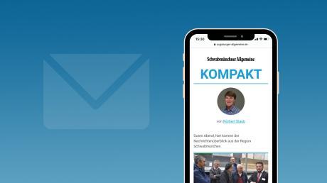 """In Zukunft erhalten Sie über unsere NewsApp von Montag bis Freitag jeden Abend unseren neuen Newsletter """"Schwabmünchner Allgemeine Kompakt""""."""