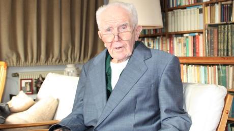 Julius Peslmüller aus Untermeitingen feiert heute seinen 100. Geburtstag.