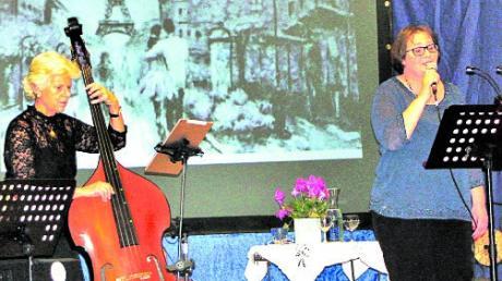 Der Chansonabend findet auch in diesem Jahr wieder in Langerringen statt. Mit dabei sind wieder Sängerin Beate Anton und Karola Piel am Kontrabass.