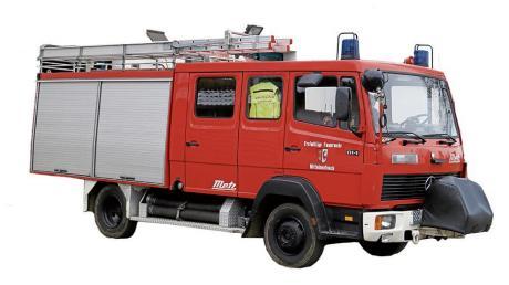 Das Mittelneufnacher Feuerwehrauto ist in die Jahre gekommen und muss ausgetauscht werden.