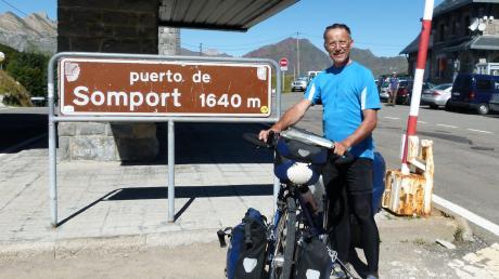 Mit dem Fahrrad über die Pyrenäen – sieben Mal hat Anton Hirschmiller den Jakobsweg bereits erkundet.