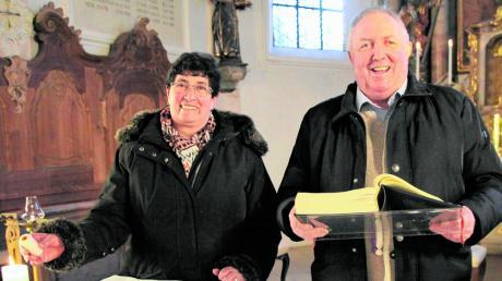 42 Jahre waren Gertrud und Clemens Weihmayer gemeinsam als Mesner in Obermeitingen in der Pfarrkirche St. Mauritius und später zusätzlich auch in der Friedenskapelle St. Josef tätig.