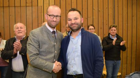 Mit 56,8 Prozent setzte sich Andreas Reiter (CSU/ Unabhängige Wähler) (links) gegen Markus Reiter von den Freien Wählern (rechts) durch.