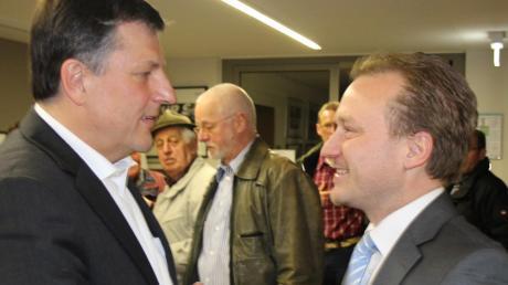 Aug' in Aug' vor sechs Jahren: Damals setzte sich Bernd Müller (links) noch klar im ersten Wahlgang gegen Klaus Förster durch.