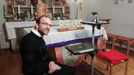 Die Übertragung der Gottesdienste über Live-Stream bietet auch Pfarrer Thomas Demel für die Pfarreiengemeinschaft Lechfeld an.