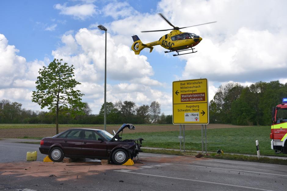 Unfall im Westen von Schwabmünchen.