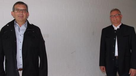 Robert Wippel (rechts) wurde erneut zum Vorsitzenden der Verwaltungsgemeinschaft Stauden gewählt. Sein Stellvertreter ist Gerald Eichinger (links).