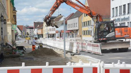Die ersten beiden Bauabschnitte der Fuggerstraße sind bald abgeschlossen.