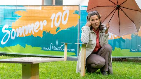 Das Wetter spielte nicht mit, so dass  Doris Hafner, Leiterin des städtischen Kulturbüros, die Serenade zum Kultursommer in Schwabmünchen absagen musste.