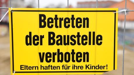 In Königsbrunn haben Unbekannte auf einer Baustelle gewütet.