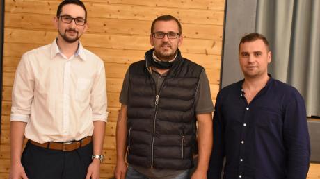 Das neue Königsbrunner Führungstrio: (von links) Stefan Christ, Sven Sorkale und Tim Bertele.