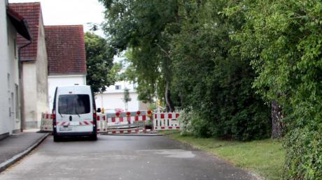 Am Oberen Singoldweg in Großaitingen wurde gebaut. Dafür mussten Bäume weichen.