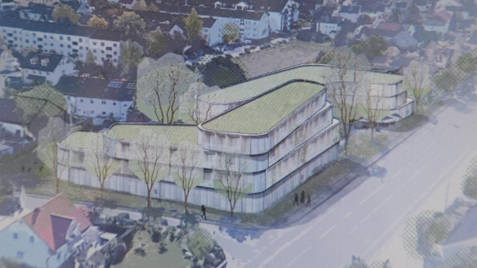"""""""Bumerangs"""" heißt der Arbeitstitel des Entwurfs der Architekten für den Komplex mit Studentenappartements, der an der Haunstetter Straße entstehen soll."""