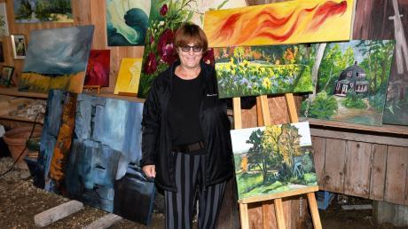 Malerin Sabine Rothe präsentierte ihre Aquarelle und Acrylarbeiten.